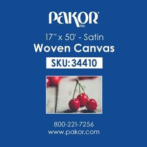 "Picture of Pakor Woven Canvas, 17"" x 50' - Satin (22 mil)"