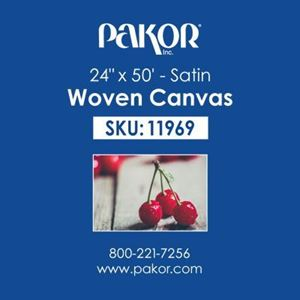 "Picture of Pakor Woven Canvas, 24"" x 50' - Satin  (22 mil)"