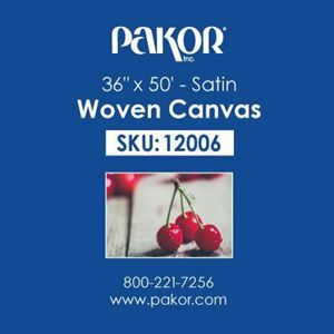 "Picture of Pakor Woven Canvas, 36"" x 50' - Satin  (22 mil)"