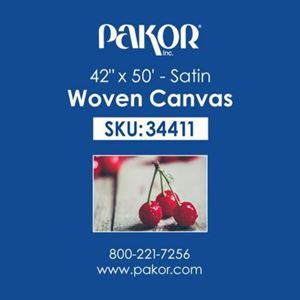 "Picture of Pakor Woven Canvas, 42"" x 50' - Satin  (22 mil)"