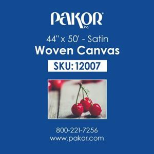 "Picture of Pakor Woven Canvas, 44"" x 50' - Satin  (22 mil)"