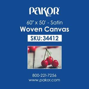 "Picture of Pakor Woven Canvas, 60"" x 50' - Satin  (22 mil)"