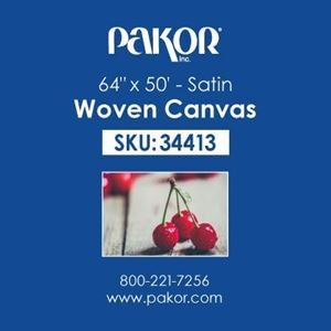 "Picture of Pakor Woven Canvas, 64"" x 50' - Satin  (22 mil)"
