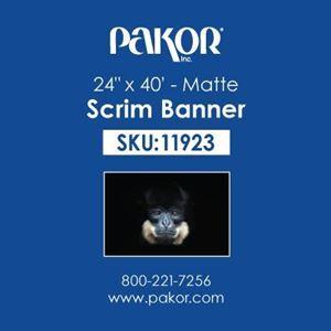 "Picture of Pakor Scrim Banner, 24"" x 40' – Matte"