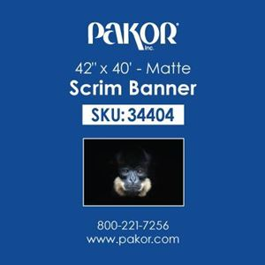 "Picture of Pakor Scrim Banner, 42"" x 40' – Matte"