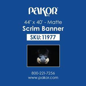 "Picture of Pakor Scrim Banner, 44"" x 40' – Matte"