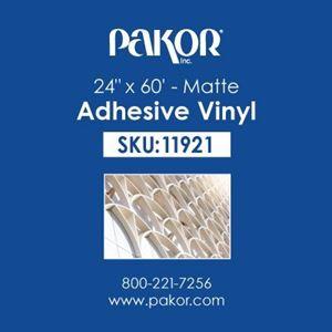 "Picture of Pakor Adhesive Vinyl, 24"" x 60' – Matte"