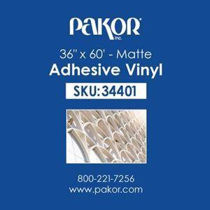 "Picture of Pakor Adhesive Vinyl, 36"" x 60' – Matte"