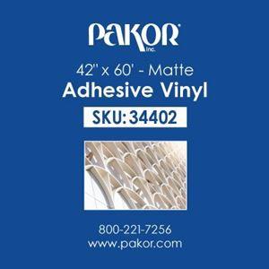 "Picture of Pakor Adhesive Vinyl, 42"" x 60' – Matte"