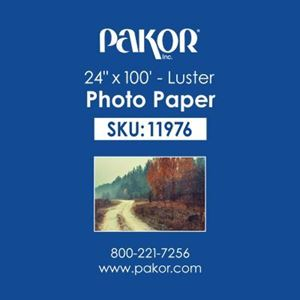 "Picture of Pakor Photo Paper, 24"" x 100' - Luster (8 mil)"