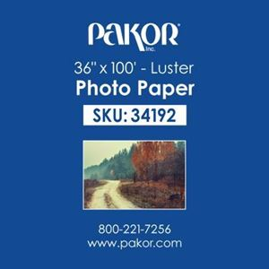 "Picture of Pakor Photo Paper, 36"" x 100' - Luster (8 mil)"