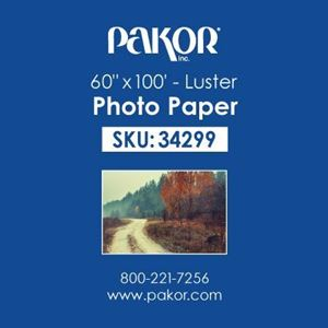"Picture of Pakor Photo Paper, 60"" x 100' - Luster (8 mil)"