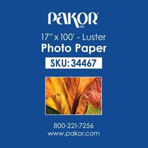 "Picture of Pakor Photo Paper, 17"" x 100' - Luster (10 mil)"