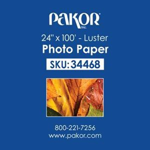 "Picture of Pakor Photo Paper, 24"" x 100' - Luster (10 mil)"