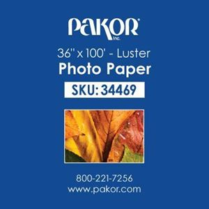 "Picture of Pakor Photo Paper, 36"" x 100' - Luster (10 mil)"