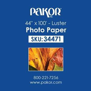 "Picture of Pakor Photo Paper, 44"" x 100' - Luster (10 mil)"