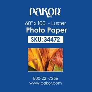 "Picture of Pakor Photo Paper, 60"" x 100' - Luster (10 mil)"