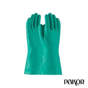 Picture of Green Nitrile Gloves, 15 ml —Medium / Size 8