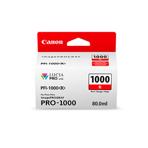 Picture of Canon PFI-1000 Ink, 80 ml - Red