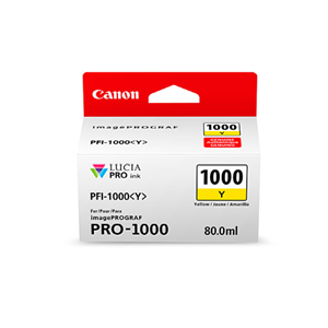 Picture of Canon PFI-1000 Ink, 80 ml - Yellow