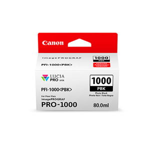 Picture of Canon PFI-1000 Ink, 80 ml - Photo Black