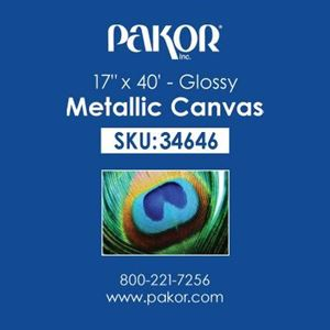 "Picture of Pakor Metallic Canvas, 17"" x 40' - Gloss (20 mil)"