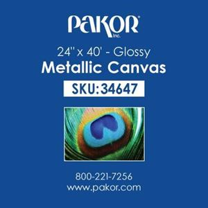 "Picture of Pakor Metallic Canvas, 24"" x 40' - Gloss (20 mil)"