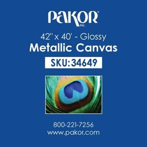 "Picture of Pakor Metallic Canvas, 42"" x 40' - Gloss (20 mil)"