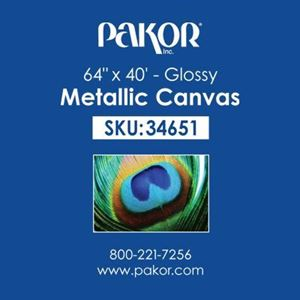 "Picture of Pakor Metallic Canvas, 64"" x 40' - Gloss (20 mil)"