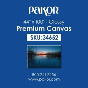 "Picture of Pakor Premium Canvas, 44"" x 100' - Gloss (21 mil"