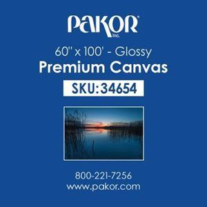 "Picture of Pakor Premium Canvas, 60"" x 100' - Gloss (21 mil)"