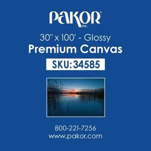 "Picture of Pakor Premium Canvas, 30"" x 100' - Gloss (21 mil)"