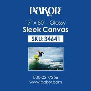 "Picture of Pakor Sleek Canvas, 17"" x 50' - Gloss (22 mil)"
