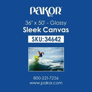 "Picture of Pakor Sleek Canvas, 36"" x 50' - Gloss (22 mil)"