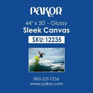 "Picture of Pakor Sleek Canvas, 44"" x 50' - Gloss (22 mil)"