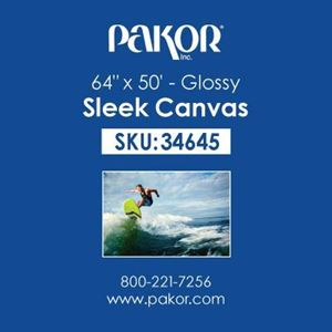 "Picture of Pakor Sleek Canvas, 64"" x 50' - Gloss (22 mil)"