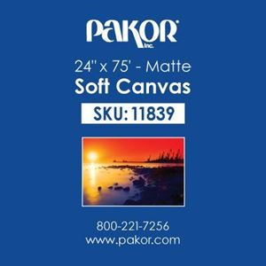 "Picture of Pakor Soft Canvas, 24"" x 75' - Matte (17 mil)"