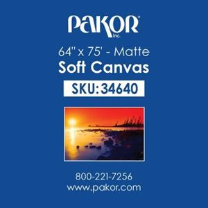 "Picture of Pakor Soft Canvas, 64"" x 75' - Matte (17 mil)"