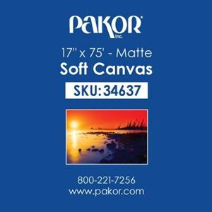 "Picture of Pakor Soft Canvas, 17"" x 75' - Matte (17 mil)"