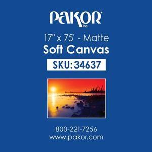 "Picture of Pakor Soft Canvas, 17"" x 75' - Matte (17 mil)"