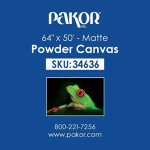 "Picture of Pakor Powder Canvas, 64"" x 50' - Matte (21 mil)"
