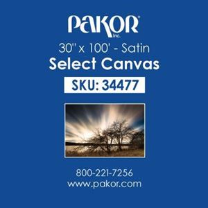 "Picture of Pakor Select Canvas, 30"" x 100' - Satin (17 mil)"