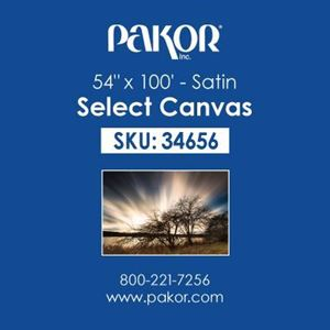 "Picture of Pakor Select Canvas, 54"" x 100' - Satin (17 mil)"