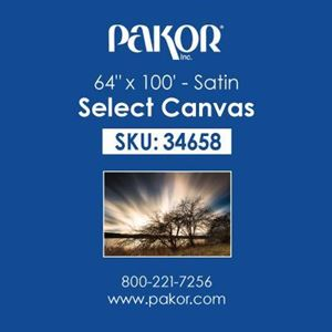 "Picture of Pakor Select Canvas, 64"" x 100' - Satin (17 mil)"