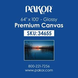 "Picture of Pakor Premium Canvas, 64"" x 100' - Gloss (21 mil)"