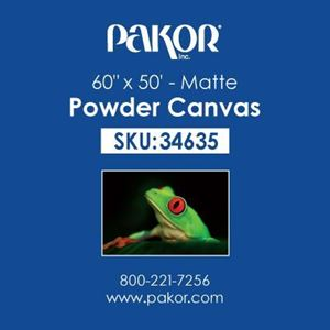"Picture of Pakor Powder Canvas, 60"" x 50' - Matte (21 mil)"