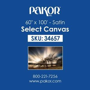 "Picture of Pakor Select Canvas, 60"" x 100' - Satin (17 mil)"