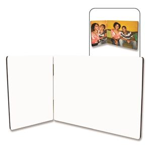 Picture of CASE OF 5 Dye Sub Flat-Top Hinged Photo Panels - Duo-Panel Set