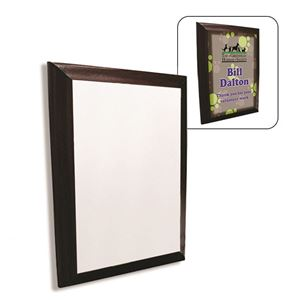 """Picture of CASE OF 12 Blank Dye Sub Cherry Finish Rectangle Plaque - 9"""" x 12"""""""