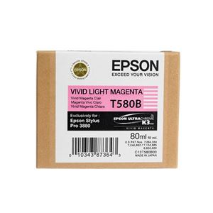 Picture of Epson T580B00 UltraChrome K3 Ink 80ml Vivid Light Magenta